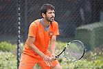 April 25, 2014; San Diego, CA, USA; Pepperdine Waves player Rakshay Thakkar during the WCC Tennis Championships at Barnes Tennis Center.