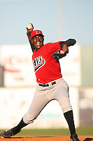 April 19 2009: Michael Pineda of the High Desert Mavericks pitches against the Lancaster JetHawks at Clear Channel Stadium in Lancaster,CA.  Photo by Larry Goren/Four Seam Images