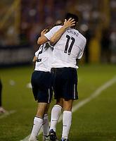 Frankie Hejduk (2) celebrates his goal with Brian Ching (11) during FIFA World Cup qualifier against El Salvador. USA tied El Salvador 2-2 at Estadio Cuscatlán Stadium in El Salvador on March 28, 2009.
