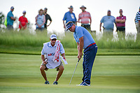 Jason Dufner (USA) lines up his putt on 11 during Thursday's round 1 of the 117th U.S. Open, at Erin Hills, Erin, Wisconsin. 6/15/2017.<br /> Picture: Golffile | Ken Murray<br /> <br /> <br /> All photo usage must carry mandatory copyright credit (&copy; Golffile | Ken Murray)