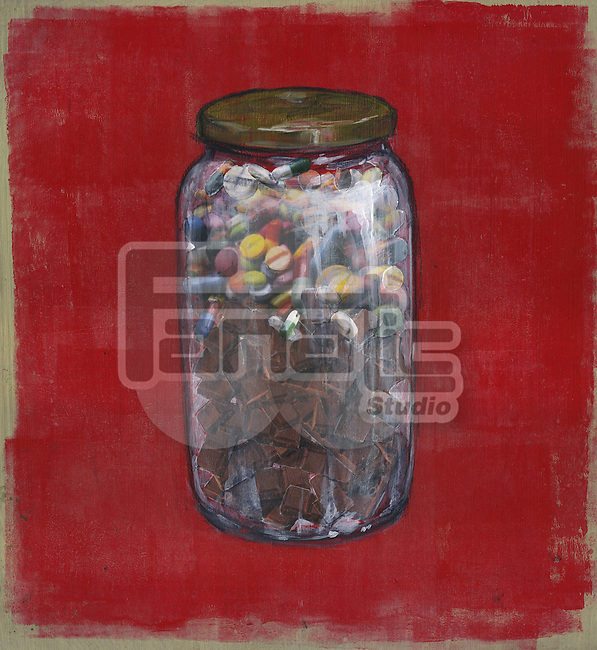 Jar full of diabetic pills