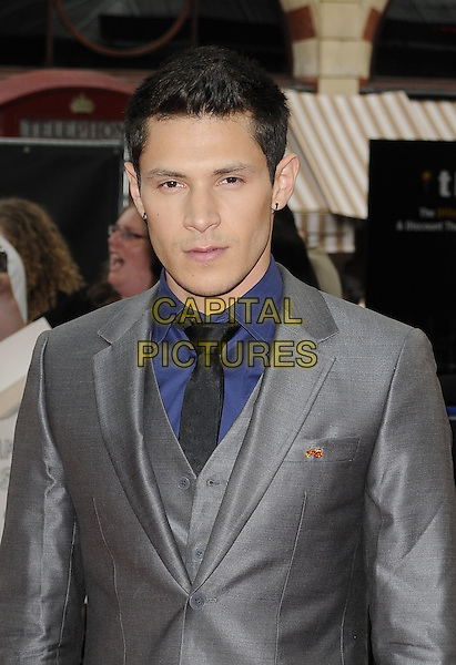 "ALEX MERAZ.UK Gala Premiere of ""The Twilight Saga: Eclipse"" at the Odeon Leicester Square, London, England, UK..July 1st 2010.half length grey gray suit blue shirt jacket.CAP/CAN.©Can Nguyen/Capital Pictures."