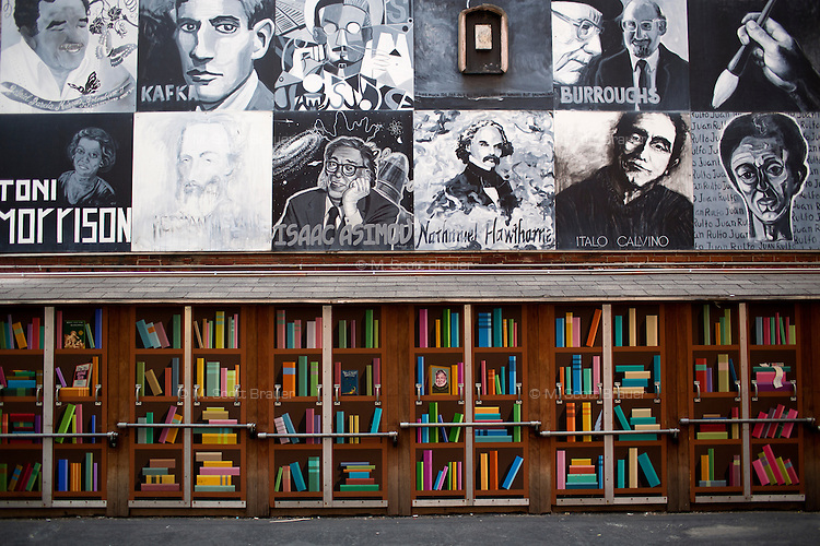 The Brattle Book Shop on West Street is one of the nation's oldest used book stores and has an outdoor sale section in Downtown Crossing, Boston, Massachusetts, USA.