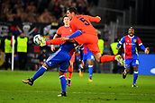 31st October 2017, St Jakob-Park, Basel, Switzerland; UEFA Champions League, FC Basel versus CSKA Moscow; Viktor Vasin of CSKA Moscow challenges Albian Ajeti of FC Basel to the ball