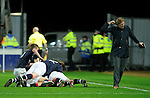 Mark Millar celebration as Steven Pressley yelps