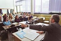 Liceo classico Carducci, scuola media superiore. Milano, 4 novembre aprile, 2002<br /> <br /> High School classroom. Milan, November 4, 2002