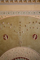 A detail of the ornamental plasterwork on the ceiling of the hall which was added to the house in the 1790s