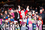 Santa Claus with the children at the Kenmare Christmas celebrations on Saturday night