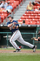 July 20th 2008:  Matt Diaz of the Richmond Braves, Class-AAA affiliate of the Atlanta Braves, during a game at Dunn Tire Park in Buffalo, NY.  Photo by:  Mike Janes/Four Seam Images