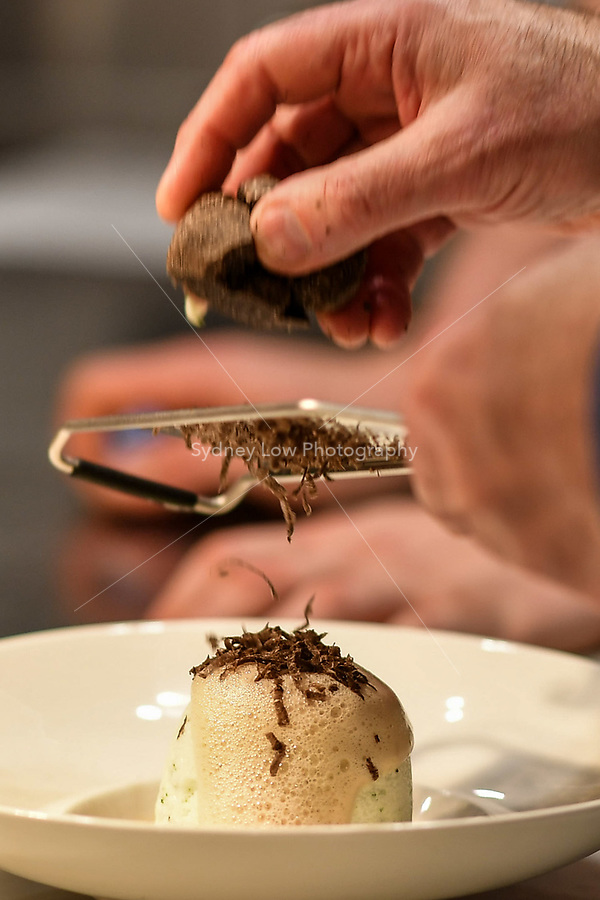 MELBOURNE, 30 June 2017 – Philippe Mouchel shaves a truffle during a dinner celebrating his 25 years in Australia with six chefs who worked with him in the past at Philippe Restaurant in Melbourne, Australia.