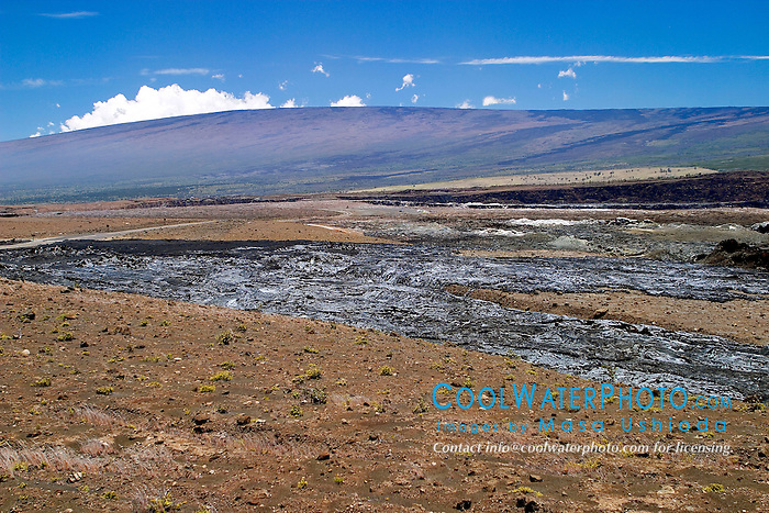 Halema`uma`u Crater and Mauna Loa, Kilauea Caldera, Hawaii Volcanoes National Park, Big Island, Hawaii