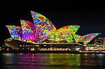 Sydney Opera House is illuminated during the Vivid Light Festival.