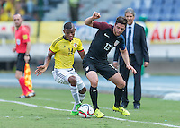 BARRANQUILLA, COLOMBIA - March 25, 2016: The US U-23 Men's National team vs Colombia in a Olympic qualifying match in Estadio Metropolitano Roberto Meléndez. Final score, USA 1, Colombia 1.