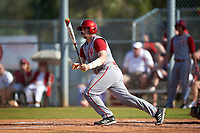 Indiana Hoosiers catcher Ryan Fineman (29) at bat during a game against the Illinois State Redbirds on March 4, 2016 at North Charlotte Regional Park in Port Charlotte, Florida.  Indiana defeated Illinois State 14-1.  (Mike Janes/Four Seam Images)