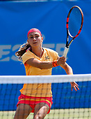 June 17th 2017, The Northern Lawn tennis Club, Manchester, England; ITF Womens tennis tournament; Number seven seed Aleksandra Krunic (SRB) in action during her semi final singles match against number four seed Aryna Sabalenka (BLR); Krunic won in straight sets and meets Zarina Dyas (KAZ) in tomorrow's final