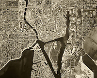 historical aerial photograph Tampa, Florida, 1969