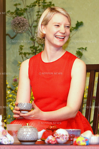 "Australian actress Mia Wasikowska attends the press conference for the film ""Alice Through the Looking Glass"" in Tokyo, Japan on June 20, 2016. (Photo by Sho Tamura/AFLO)"