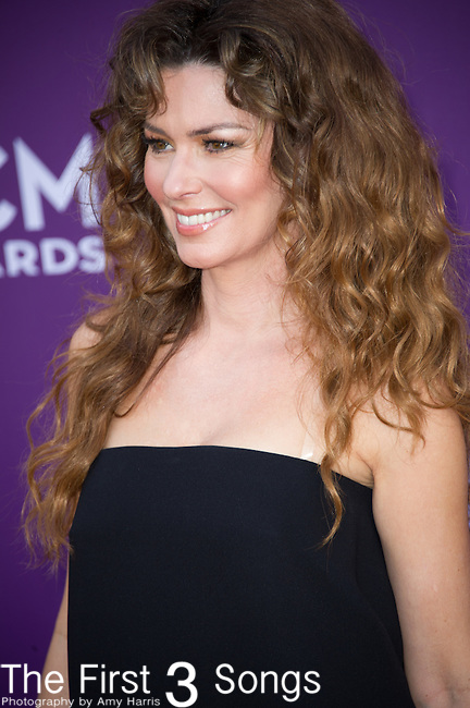 Shania Twain attends the 48th Annual Academy of Country Music Awards in Las Vegas, Nevada on April 7, 2012.