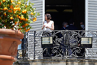 Minister of Transportation Paola de Micheli at the balcony of Villa Pamphilj, where the Italian Premier convened the States General of Economy. The summit was strictly behind closed doors and the press was kept outside. Rome (Italy), June 13th 2020<br /> Samantha Zucchi Insidefoto