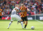 Bradford's Charlie Wyke tussles with Millwall's Byron Webster during the League One Play-Off Final match at Wembley Stadium, London. Picture date: May 20th, 2017. Pic credit should read: David Klein/Sportimage