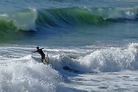 Surfing Waves in San Clemente California