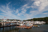 Kayaks and Boats at Roche Harbor Marina, San Juan Island, Washington, US