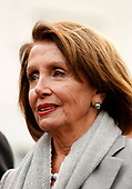 Speaker of the United States House of Representatives Nancy Pelosi (Democrat of California) briefs reporters following a meeting with the president and congressional leaders on the government shutdown, at the White House, in Washington, D.C., January 9, 2019.<br /> Credit: Martin H. Simon / CNP