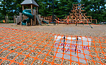 WOODBURY , CT-080620JS02—Town leaders in Woodbury will announce the reopening of the Hollow Park playground as of Saturday. The playground was closed earlier this year to keep kids safe from spreading COVIC-19  Jim Shannon Republican-American