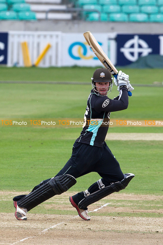 Tom Maynard, Surrey CCC plays square on the off side during his half century - Surrey Lions vs Durham Dynamos - Clydesdale Bank CB40 Cricket at The Kia Oval, London - 20/05/12 - MANDATORY CREDIT: Ray Lawrence/TGSPHOTO - Self billing applies where appropriate - 0845 094 6026 - contact@tgsphoto.co.uk - NO UNPAID USE.