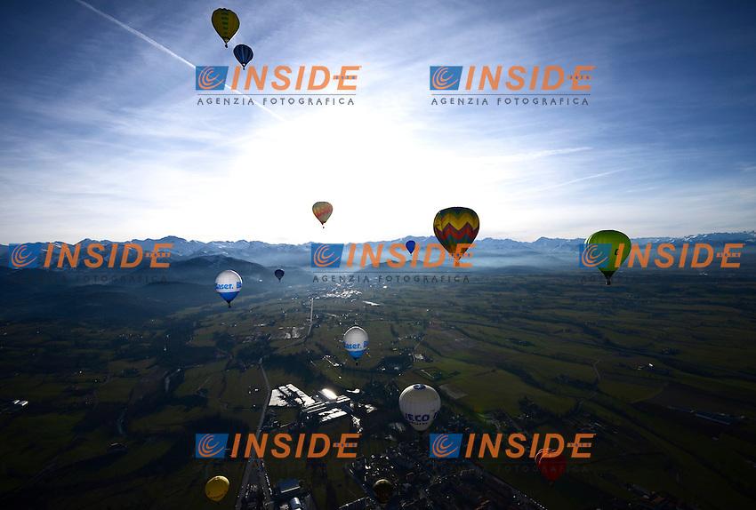 Mondovi' (CN), 06/01/2014 <br /> International balloon Rally<br /> Raduno internazionale di mongolfiere <br /> Giorgio Perottino / Insidefoto