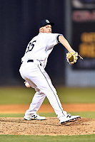 Asheville Tourists pitcher Lucas Gilbreath (35) delivers a pitch during a game against the Columbia Fireflies at McCormick Field on April 13, 2018 in Asheville, North Carolina. The Tourists defeated the Fireflies 5-1. (Tony Farlow/Four Seam Images)