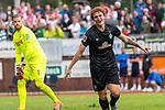 20.07.2019, Heinz Detmar Stadion, Lohne, Interwetten Cup 1. FC Köln vs SV Werder Bremen<br /> <br /> im Bild / picture shows <br /> <br /> Joshua Sargent (Werder Bremen #19) auf dem Weg zum 1:= gegen Lasse Sobiech ( Koeln #03) Jonas Hector (Koeln #14) <br /> <br /> Jubel  li Timo Horn (Koeln #01)<br /> Foto © nordphoto / Kokenge