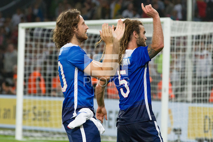 COLOGNE, Germany - June 10, 2015: The US Men's National team defeat Germany 2-1 in an international friendly match at RheinEnergieStadion.