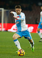 Dries Mertens  during the SSC Napoli vs Atalanta, serie A  soccer match at  San Paolo Stadium in Naples , Italy 25 February 2017 Photo: Ciro De Luca ciro de luca<br />   +39 02 43998577 sales@silverhubmedia.it