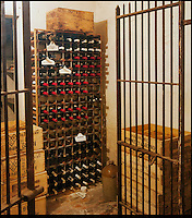 BNPS.co.uk (01202) 558833<br /> Picture: Bonhams<br /> <br /> The wine cellar<br /> <br /> It is the ultimate garden sale -- The aristocrat Cunliffe-Copeland family are auctioning off millions of pounds of antiques in a unique sale of the entire contents of their stately home Trelissick House near Truro in Cornwall. For generations the family have filled the magnificent The 18th century manor with treasures acquired from travels around the globe.<br /> <br /> 58 years ago the house was left to the National Trust on the condition members of the family could carry on living in the property. But the current incumbent, William Copeland and wife Jennifer, have decided to buy a normal-sized family home and are unable to take the hundreds of heirlooms with them. So they are holding a two-day sale of ancient ornaments, paintings, furniture, jewellery, silverware, books, rugs and wine in the grounds of Trelissick House, near Truro, later this month, and hope to raise &pound;3million