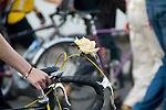Rose decoration on bike