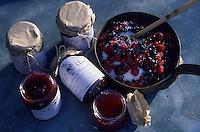 Europe/France/Rhône-Alpes/42/Loire/Env Saint-Etienne/Massif du Forez : Confiture de fruits rouges