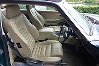 "Pictured: Interior view of the Jaguar up for auction, once owned by Eamonn Holmes<br /> Re: A luxury open-top car sold by TV's Eamonn Holmes to pay off his ""massive"" tax bill is up for grabs at auction.<br /> The host of Good Morning Britain bought the 5.3 litre Jaguar when he was earning big bucks with the BBC.<br /> But Eamonn was made redundant and at the same time he was hit with an £11,000 demand from the Inland Revenue.<br /> The car was costing him a fortune to run - it did under 15mpg.<br /> After paying a whopping £36,000 for the Jaguar XJSC, Eamonn flogged it for just £8,000 a year later.<br /> The car has an identical price tag at auction almost 30 years later.    <br /> Eamonn, 57, told how he got shot of the Jag when the 1990 Gulf War sparked a big hike in fuel prices.<br /> He said: ""Cars are my weakness - in 1989 I bought a British Racing Green Jaguar.<br /> ""I paid £36,000 in March 1989 then in early 1990 the Gulf War broke out."