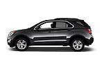 Car Driver side profile view of a 2017 Chevrolet Equinox LT 5 Door Suv Side View