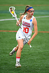 TAMPA, FL - MAY 20: Emily Santoli #10 of the Florida Southern Mocs races down field during the Division II Women's Lacrosse Championship held at the Naimoli Family Athletic and Intramural Complex on the University of Tampa campus on May 20, 2018 in Tampa, Florida. Le Moyne defeated Florida Southern 16-11 for the national title. (Photo by Jamie Schwaberow/NCAA Photos via Getty Images)
