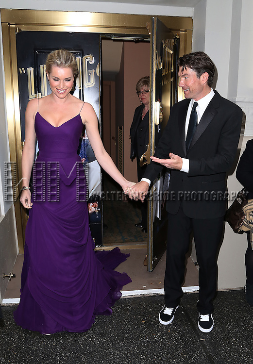 NEW YORK, NY - APRIL 20:  Rebecca Romijn and Jerry O'Connell attend the Broadway Opening Night Performance of  'Living on Love'  at  The Longacre Theatre on April 20, 2015 in New York City.  (Photo by Walter McBride/Getty Images)