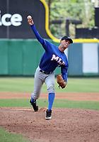 Angel Rivero participates in the MLB International Showcase at Estadio Quisqeya on February 22-23, 2017 in Santo Domingo, Dominican Republic.