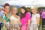 Matilda McCarthy, Killarney, Kathleen Cronin, Killarney, Lisa Brosnan, Killarney, Christine Hegarty, Killarney at Killarney races ladies day on Thursday.