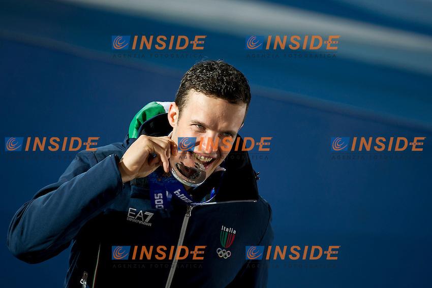 09.02.2014; Sochi Olimpiadi Invernali<br /> Premiazione Discesa Libera Uomini <br /> Christof Innerhofer (ITA) Medaglia d'argento <br /> Foto Urs Lindt/freshfocus/Insidefoto