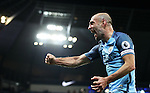 Pablo Zabaleta of Manchester City celebrates during the English Premier League match at The Etihad Stadium, Manchester. Picture date: December 12th, 2016. Photo credit should read: Lynne Cameron/Sportimage