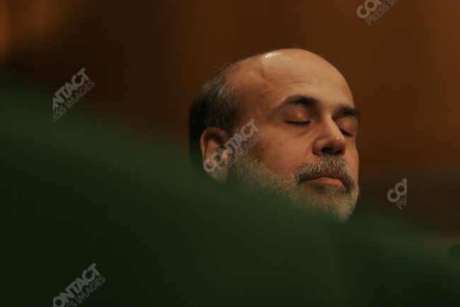 Confirmation hearings for Ben Bernanke as chairman of the Federal Reserve. Bernanke tells senators he will continue the policies of Alan Greenspan, Washington DC, November 15, 2005
