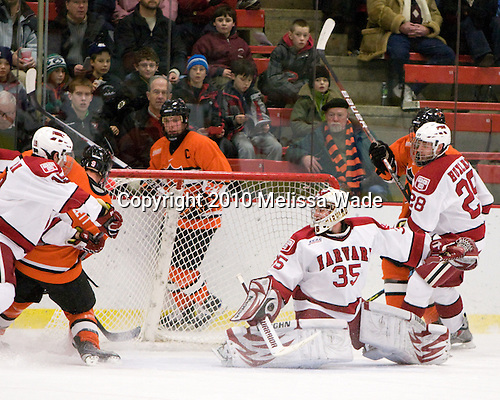 Dan Bartlett (Princeton - 9) opened scoring midway through the first period. - The Princeton University Tigers defeated the Harvard University Crimson 2-1 on Friday, January 29, 2010, at Bright Hockey Center in Cambridge, Massachusetts.