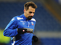Bolton Wanderers' Filipe Morais during the pre-match warm-up <br /> <br /> Photographer Kevin Barnes/CameraSport<br /> <br /> The EFL Sky Bet Championship - Cardiff City v Bolton Wanderers - Tuesday 13th February 2018 - Cardiff City Stadium - Cardiff<br /> <br /> World Copyright &copy; 2018 CameraSport. All rights reserved. 43 Linden Ave. Countesthorpe. Leicester. England. LE8 5PG - Tel: +44 (0) 116 277 4147 - admin@camerasport.com - www.camerasport.com