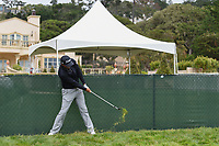 Matt Jones (AUS) hits from against the fence on 2 during round 1 of the 2019 US Open, Pebble Beach Golf Links, Monterrey, California, USA. 6/13/2019.<br /> Picture: Golffile | Ken Murray<br /> <br /> All photo usage must carry mandatory copyright credit (© Golffile | Ken Murray)