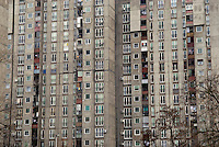 A tower block in New Belgrade, Juri Gagarina 118, which is believed to have been the home of fugitive war crimes suspect Ratko Mladic for a period of a year up until January 2006. Mladic has been indicted for genocide for acts carried out by troops under his command in the 1992-95 war in Bosnia, but has evaded arrest with the alleged help of the Serb authorities.